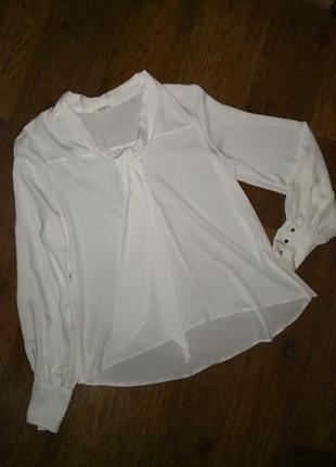 Блуза с бантом с галстуком  river island