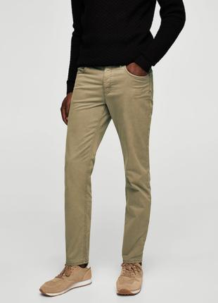 Мужские хлопковые джинсы mango slim-fit