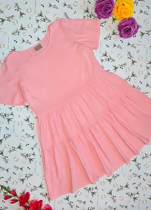 ccc53c036235fa7 Шикарное модное розовое платье свободного кроя vero moda, размер 44 - 46