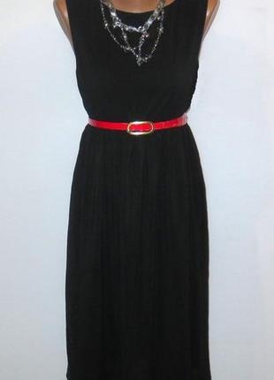 Роскошное черное платье италия подойдет для беременной стройнит размер: 44-s