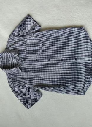 Новая стильная рубашка короткий рукав f&f на 7-8 лет