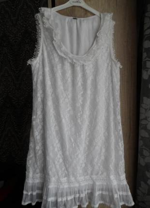 Гипюровое платье 50-52р.
