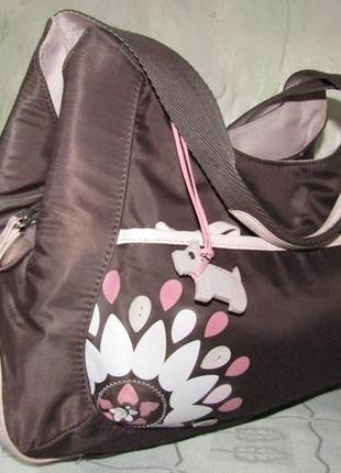 Роскошная , вместительная сумка текстиль и кожа - radley -