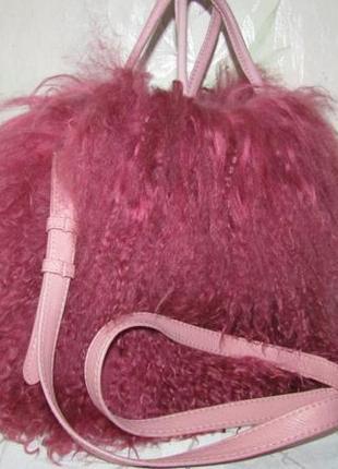 Мегастильная сумка 100 % мех и кожа - boden - англия