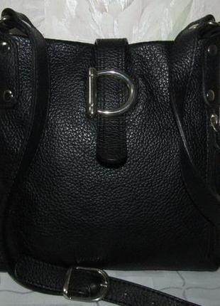 Стильная сумка через плечо 100 % мясистая кожа - италия