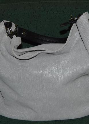 Сумка кожа rosso in pelle італія, сумка шкіра вітринна модель