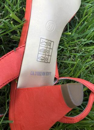 Новые яркие кожаные  летние босоножки killah , оранжевые, удобные4 фото