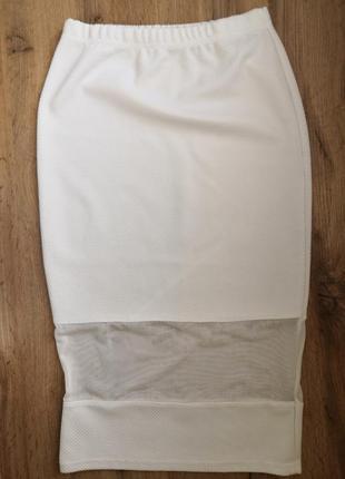 Белая юбка миди atmosphere