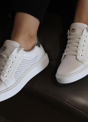 Кеды стильные удобные, кроссовки кожа натуральная, с 36-41р.