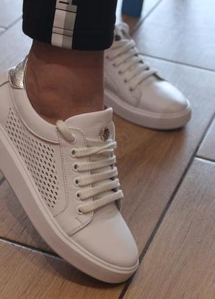 Распродажа.кеды стильные удобные, кроссовки кожа натуральная  полностью, с 34-41р.4 фото