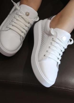 Распродажа.кеды стильные удобные, кроссовки кожа натуральная  полностью, с 34-41р.6 фото