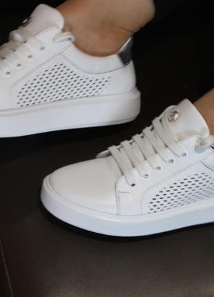 Распродажа.кеды стильные удобные, кроссовки кожа натуральная  полностью, с 34-41р.7 фото