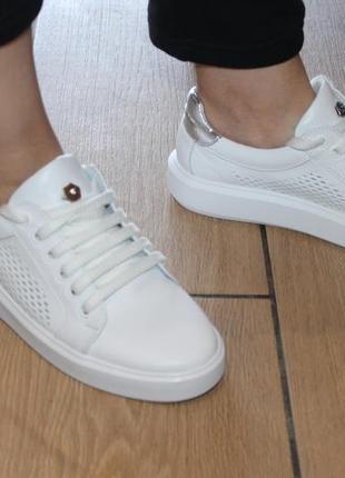 Распродажа.кеды стильные удобные, кроссовки кожа натуральная  полностью, с 34-41р.9 фото