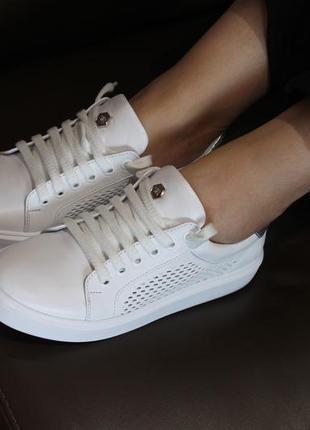 Распродажа.кеды стильные удобные, кроссовки кожа натуральная  полностью, с 34-41р.3 фото