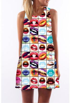 Новое трэндовое мини платье в 5д принт