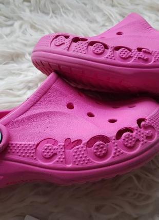 Яркие кроксы crocs размер j1-3 наш32-33