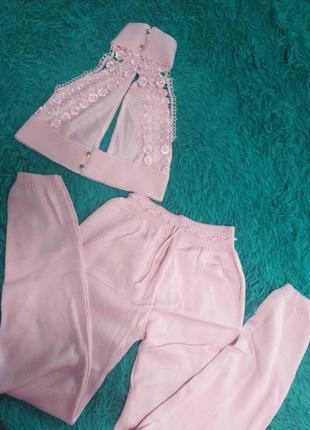 Костюмчик розовый