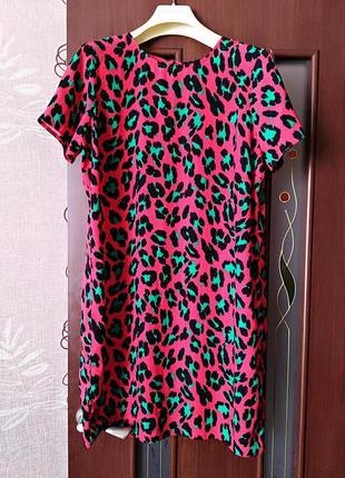 Хит 2019!!! платье в цветной леопардовый принт от бренда asos