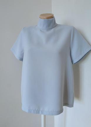 Голубая блуза оверсайз деловой стиль asos