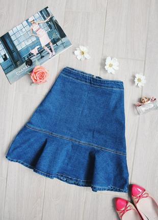 Новая джинсовая юбка-трапеция/спідниця с бирками от бренда mix