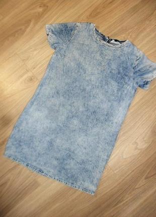 Джинсовое платье на 12-13лет