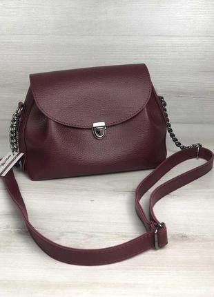 Молодежная сумка софи бордового цвета 563070