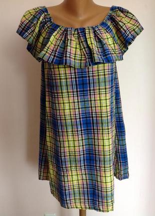 Котоновая туника- платье с открытыми плечами. /m/ brend asos