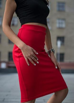 Трикотажная юбка карандаш.разные цвета и размеры