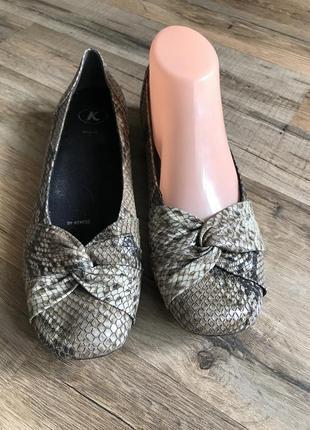 Трендовые туфли балетки с квадратным носком