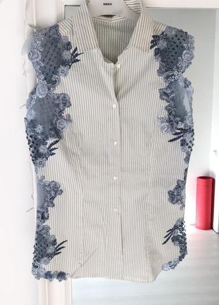 Рубашка блуза футболка  женская ermano scervino оригинал размер 44