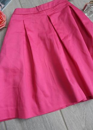 !распродажа! шикарная ярка розовая юбка из натуральной ткани/спідниця от h&m3 фото