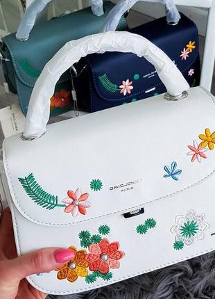 David jones белая цветочная сумочка