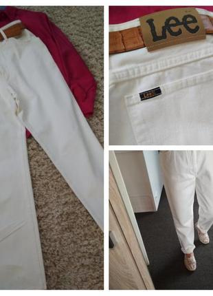 Шикарные джинсы в стиле мом, в белом цвете/катон, lee, p. 36
