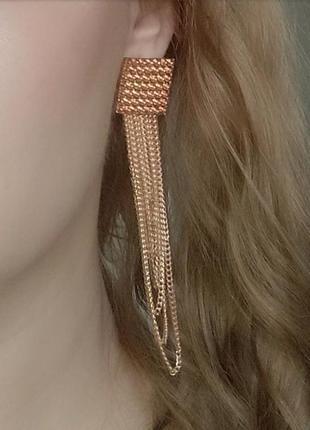 Серьги в стиле zara зара золото вечерние сережки длинные