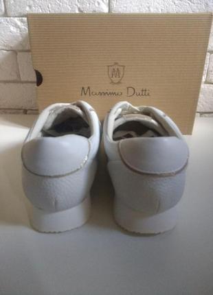 Кожаные кроссовки massimo dutti 20196 фото