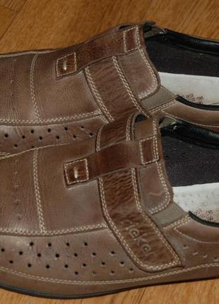 Кожаные летние туфли 44 р rieker германия хорошее состояние