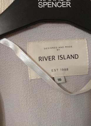 Крутой легкий плащ накидка river island размер 14-16 xl-2xl4 фото