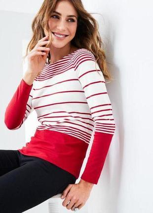 Стильный мягкий пуловер в полоску  tchibo, размер евро 48-50 наш 54-56