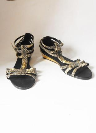 Удобные фирменные сандалии /  босоножки на низком ходу fiore collection, р-р 42 код l4203