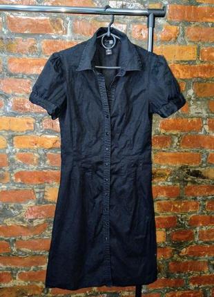 Обновка на лето! легкое базовое платье рубашка из коттона h&m