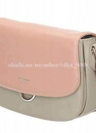 Клатч, сумка через плечо david jones 5023 серо-розовый