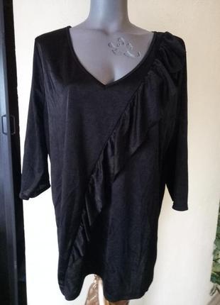 Блуза с воланом,большой размер