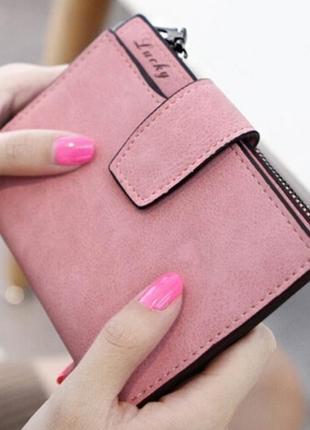 Есть варианты! супер классный розовый очень вместительный короткий кошелек бумажник1 фото