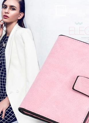 Есть варианты! супер классный розовый очень вместительный короткий кошелек бумажник2 фото
