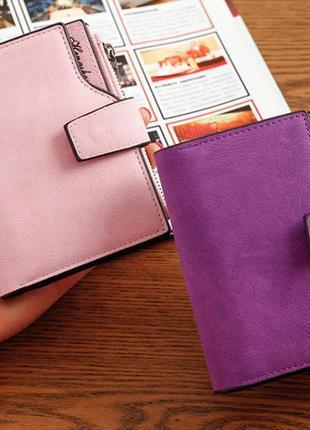 Есть варианты! супер классный розовый очень вместительный короткий кошелек бумажник5 фото