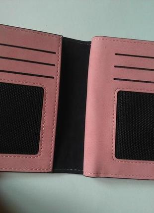 Есть варианты! супер классный розовый очень вместительный короткий кошелек бумажник7 фото