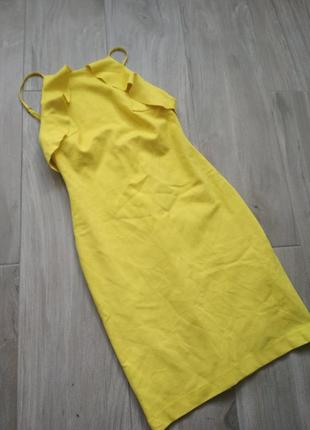 3796bbff63b87f7 Желтое платье на тонких бретелях с рюшами zara ZARA, цена - 300 грн ...
