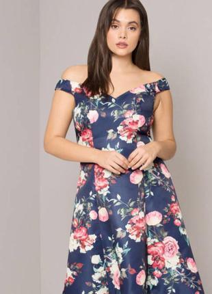 Роскошное платье в цветочный принт chi chi london4 фото