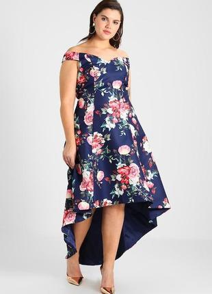 Роскошное платье в цветочный принт chi chi london3 фото