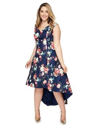 Роскошное платье в цветочный принт chi chi london